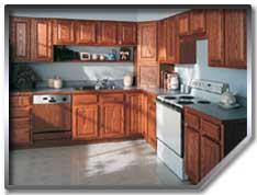 Kithcen cabinet refinishing - the smart alternative to replacing old cabinets.
