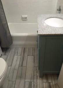 Bathroom remodel floor